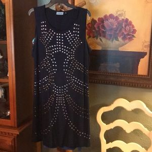 Cynthia Navy Dress